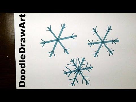 Drawn snowflake Step Step kids! an How