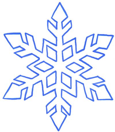 Drawn snowflake  Step to Snowflake Snowflake