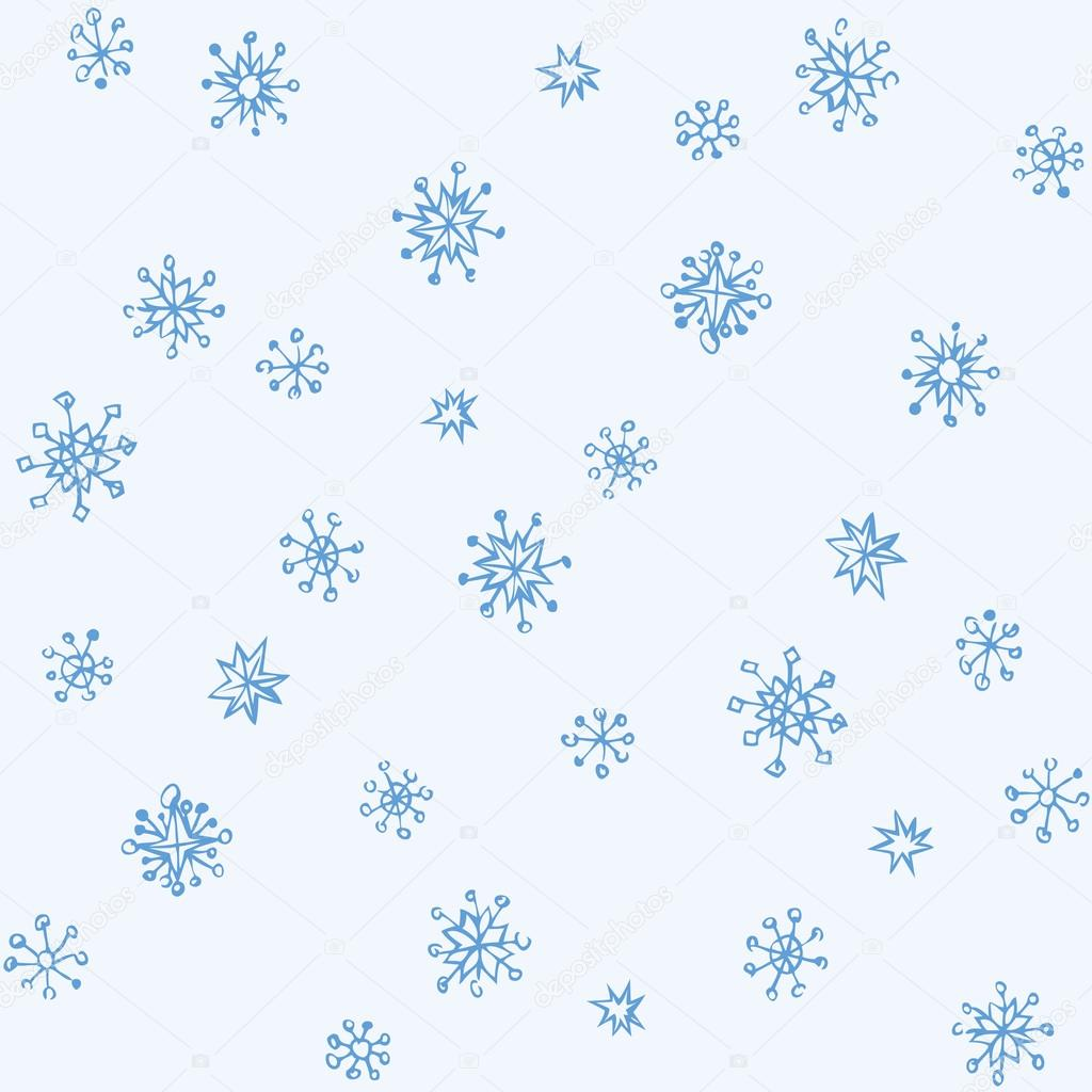 Drawn snowflake cute #108726478 — sketch drawing Vector