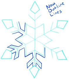 Drawn snowflake cute Snow Tutorial Drawing Elements by