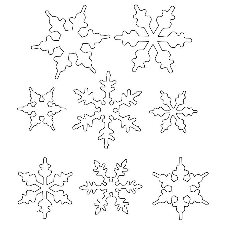 Drawn snowflake small  piping for for icing