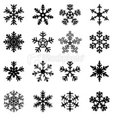 Drawn snowflake small Isolated Royalty and Art Set