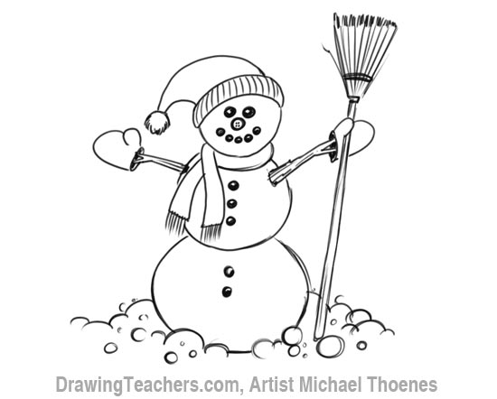 Drawn snowman Snowman  a Draw to