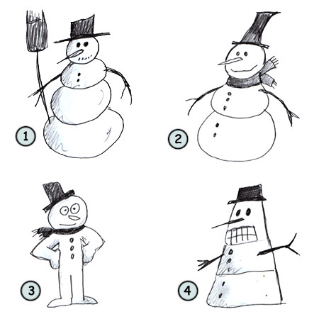 Drawn snowman Snowman Drawing How cartoon cartoon