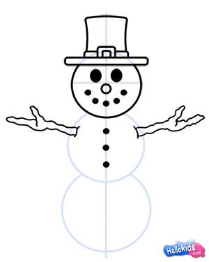 Drawn snowman #7