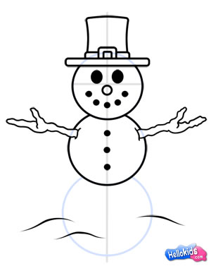 Drawn snowman How Hellokids how how step7