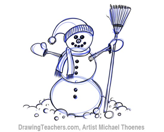 Drawn snowman Step to How snowman a
