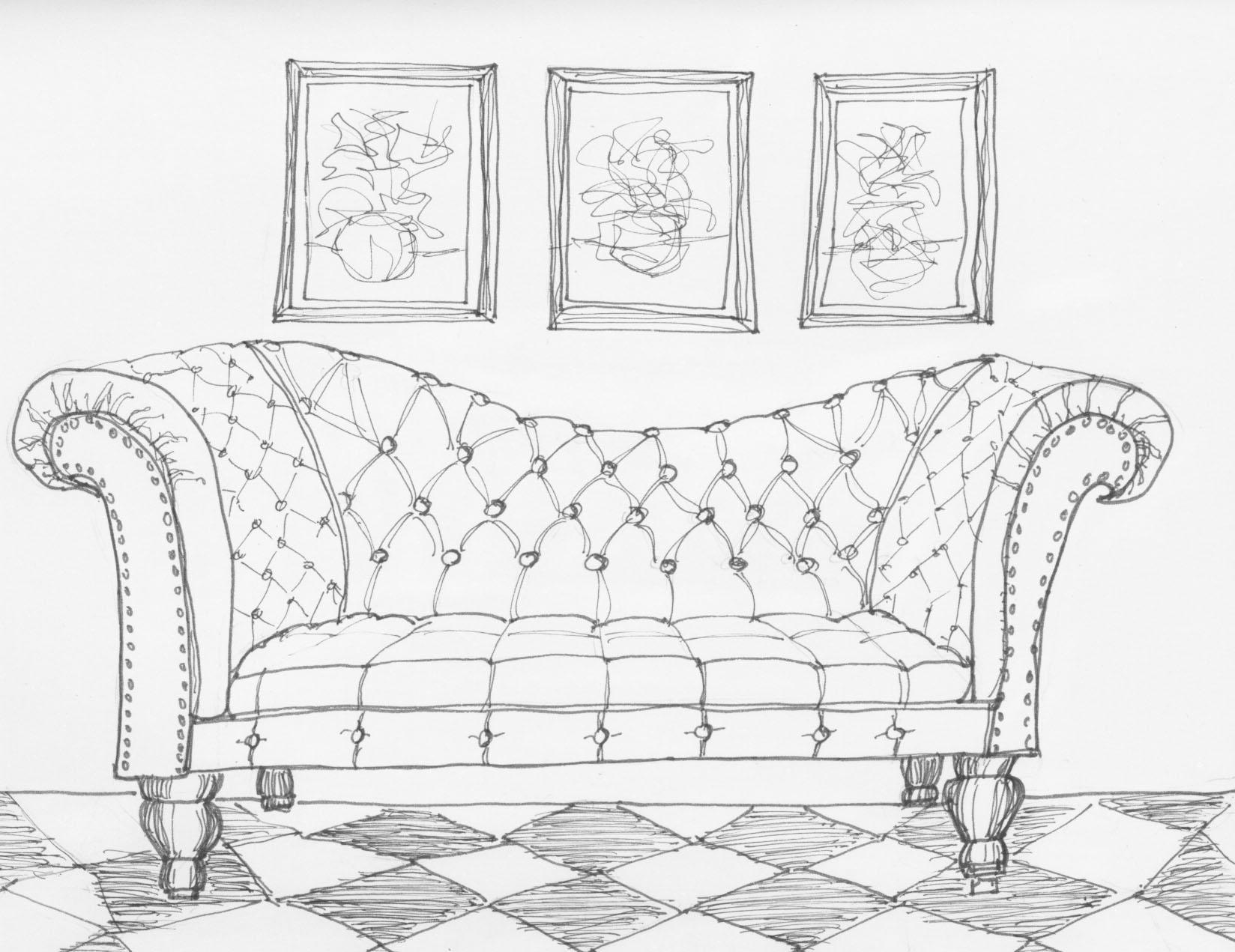 Drawn sofa More Sofa Copic Marker Pinterest