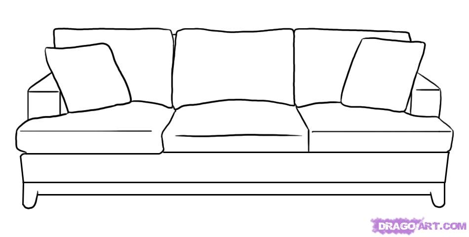 Drawn sofa Couch by October Step Stuff