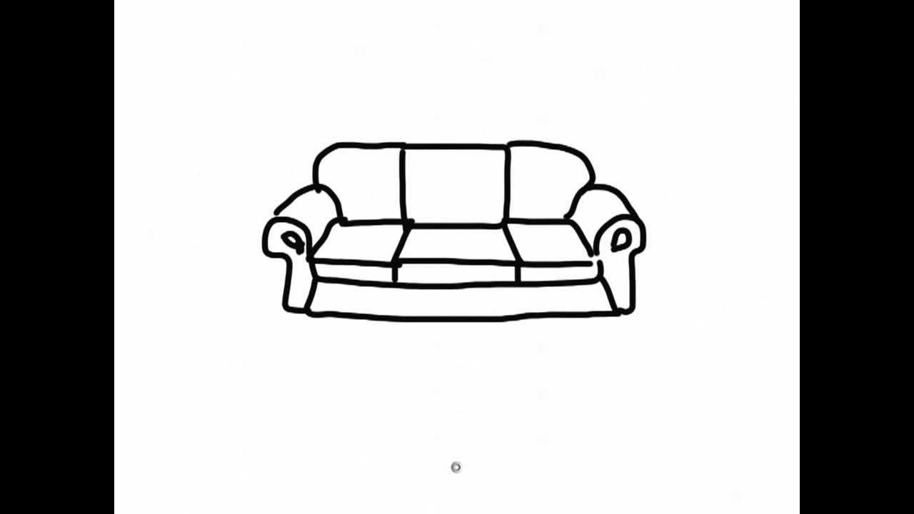 Drawn couch 2 cartoon iPad sofa YouTube