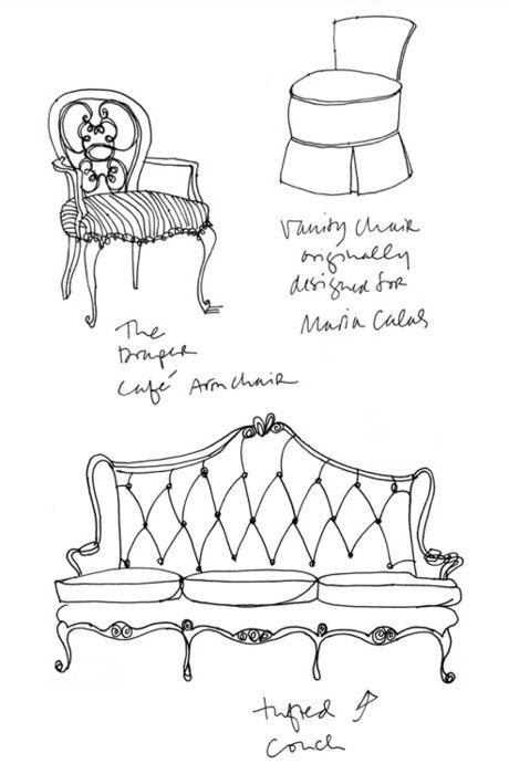 Drawn sofa antic Of drawing & ZsaZsa Bellagio: