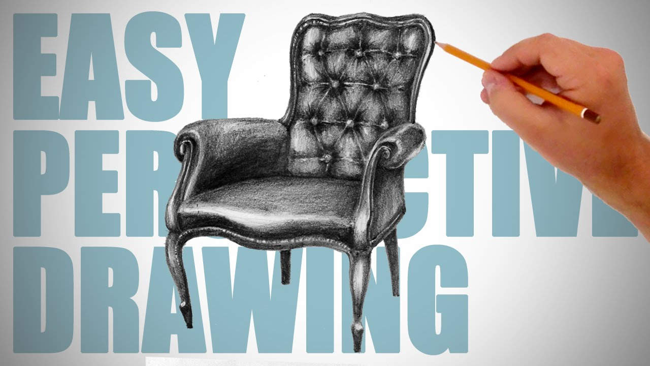 Drawn sofa antic To How chair Easy Perspective