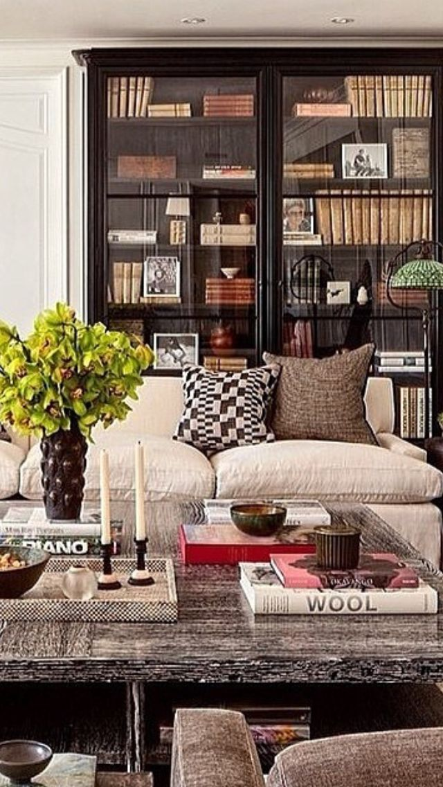 Drawn sofa antic Bookcase on table big subdued