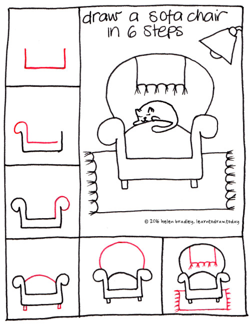 Drawn sofa cartoon Easy a 6 Antique Learn