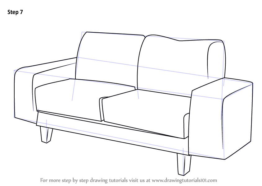 Drawn sofa cartoon Couch Learn a : Shop
