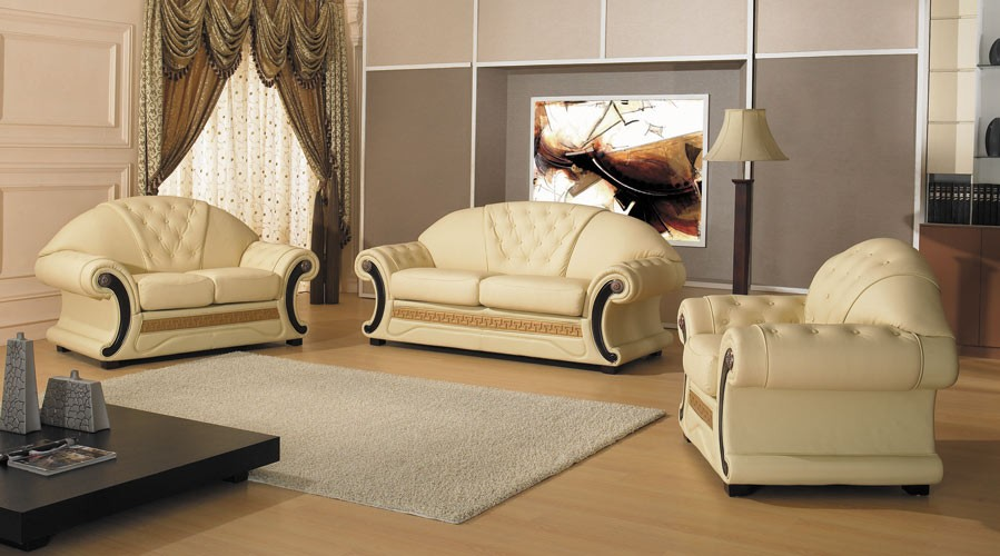 Drawn sofa cleopatra style Appealing  Set Traditional Leather
