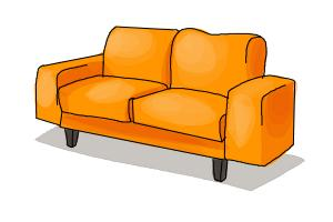 Drawn sofa couch How Draw a to a