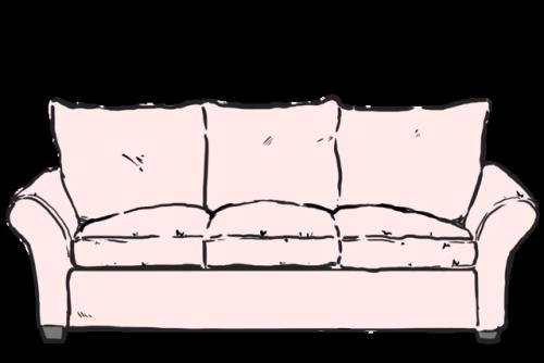 Drawn sofa couch Tumblr meme couch The meme