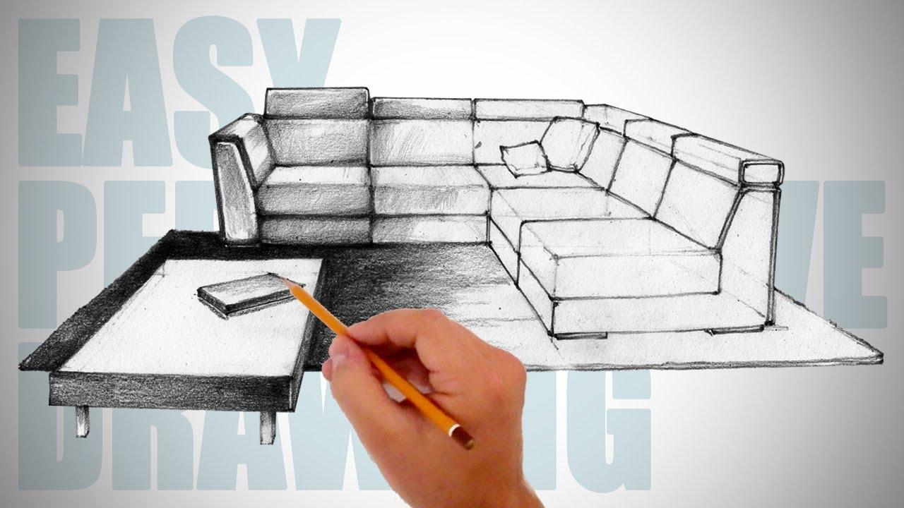 Drawn sofa easy 12 How furniture  draw