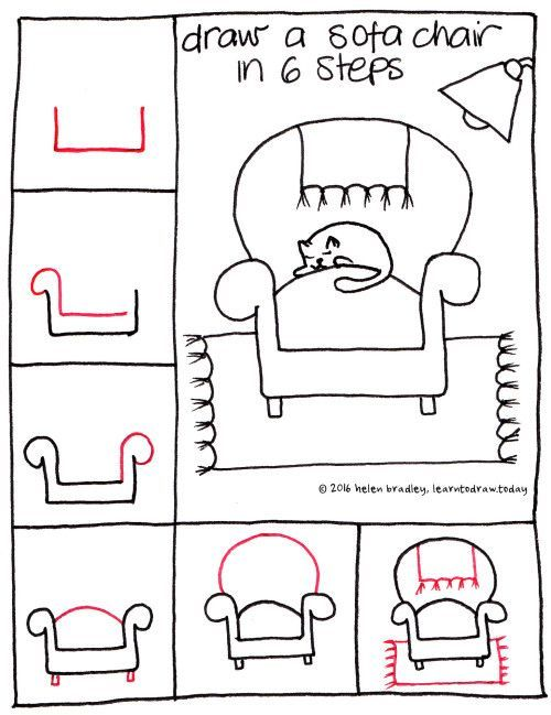 Drawn sofa easy On 6step How Couch best