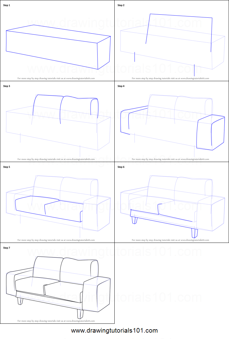 Drawn figurine couch Drawing How : step a