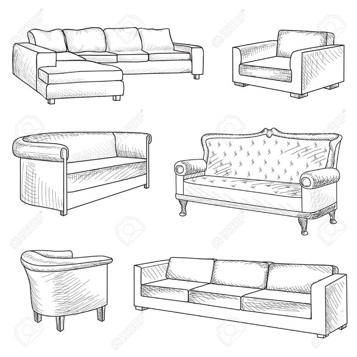 Drawn sofa easy Architecture sketch 17 Drawings sofa