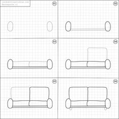 Drawn sofa easy Draw to couch with also
