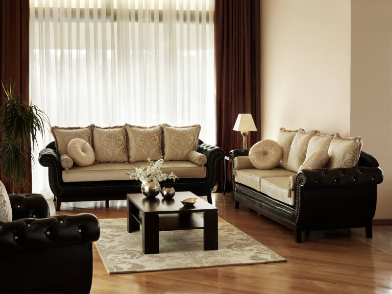 Drawn sofa low contrast Living Beautiful elegant and tufted