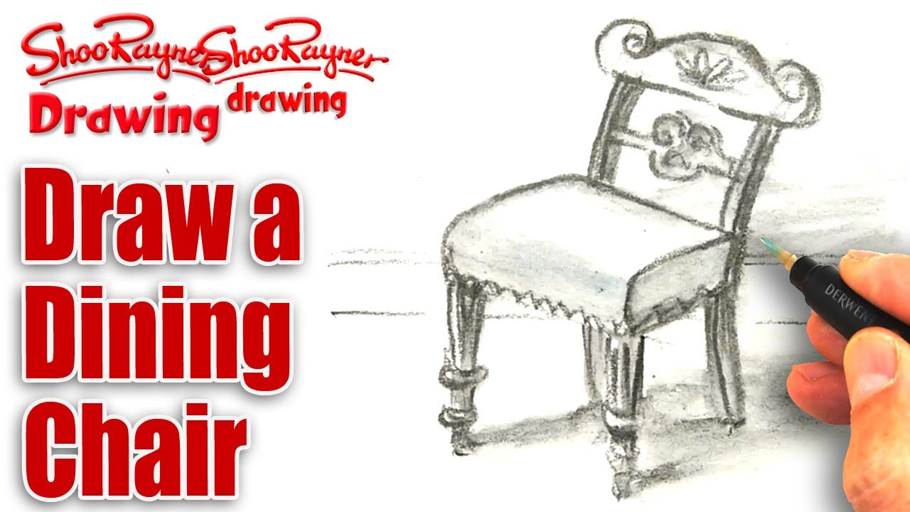 Drawn sofa old fashioned Chair to pencil a &