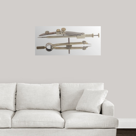 Drawn sofa old fashioned Wall compass Poster fashioned eBay
