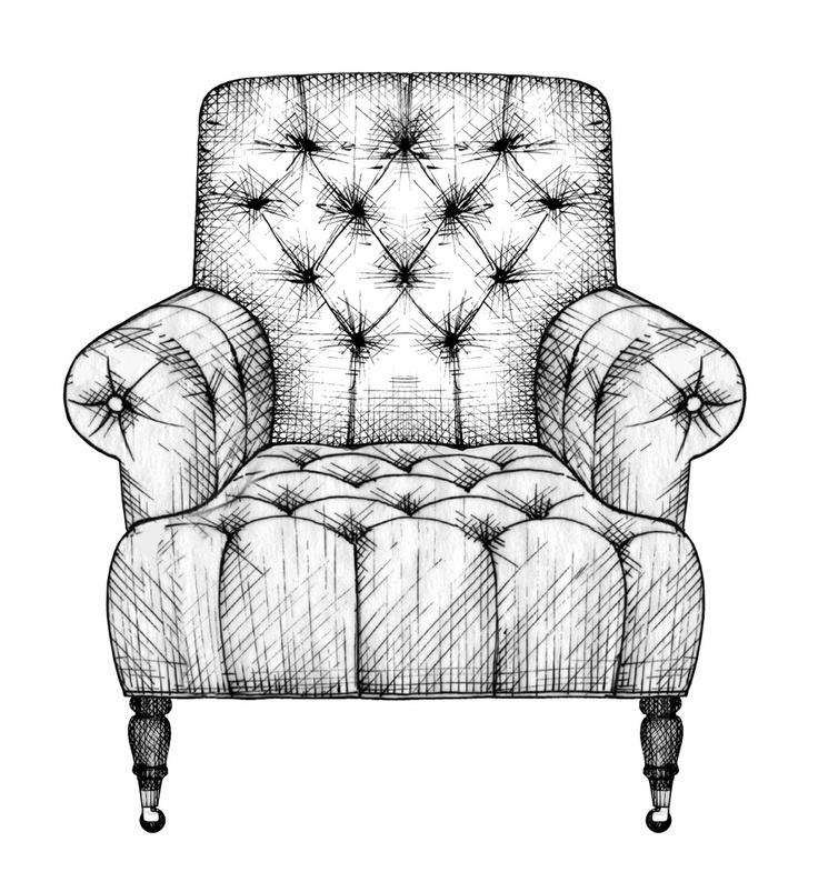 Drawn sofa pattern Interior 85 design Illustration publication