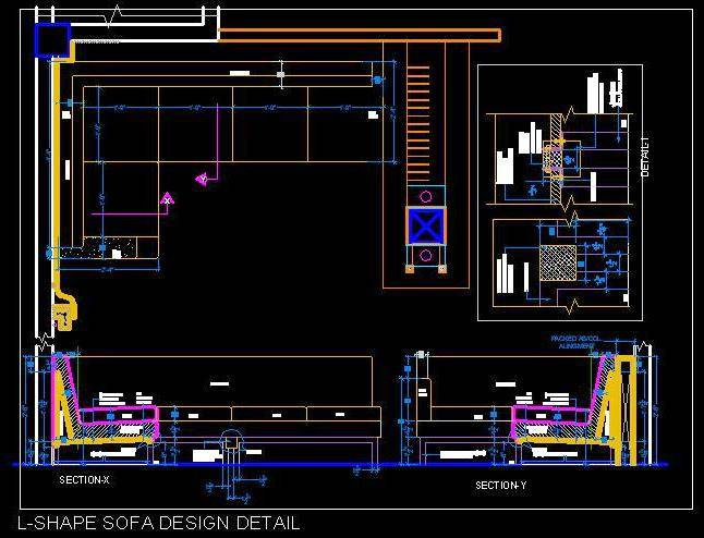 Drawn sofa plan elevation Drawing/Construction elevation drawing/Construction Plan Shape