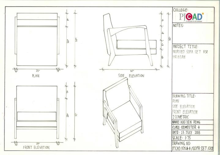 Drawn sofa plan elevation And Sofa Of Side Plan