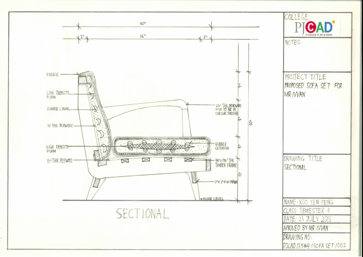 Drawn sofa plan elevation Set  IVVAN) Furniture Picture