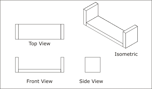 Drawn bridge side view More! Simple and Orthographic Drawing