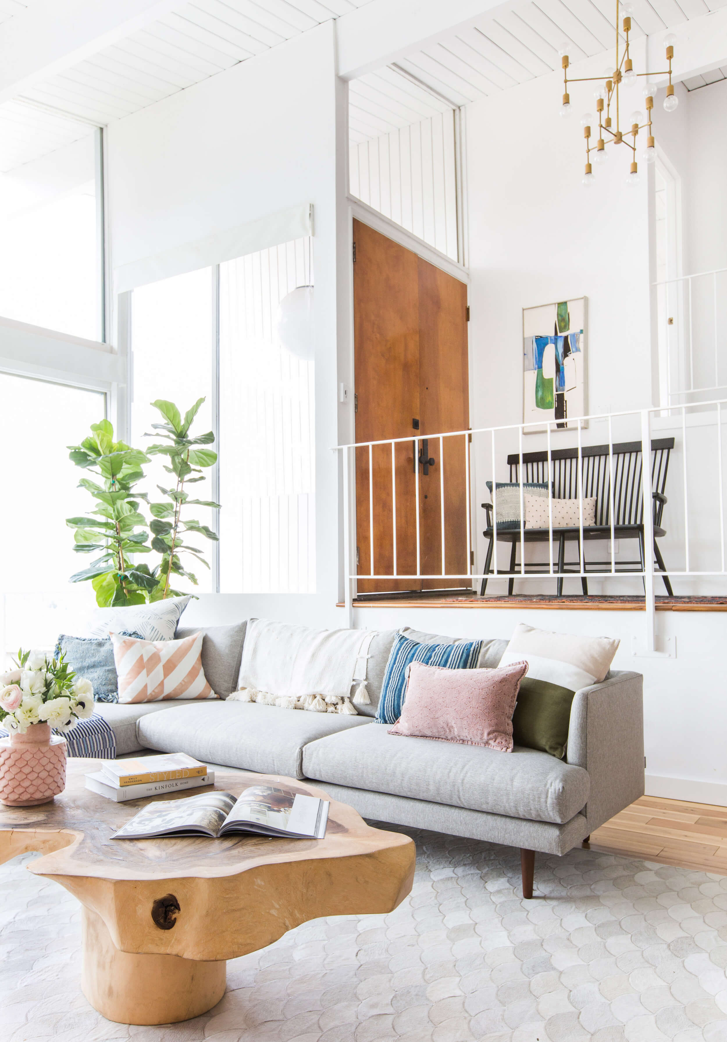 Drawn sofa stage design Sell_Boho_Mid How Room_Staged Century_Eclectic_Blue_White_Styled_Couch_Sectional_Staged2 to