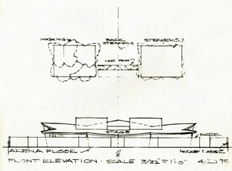 Drawn sofa stage design Tour Lotus an with the