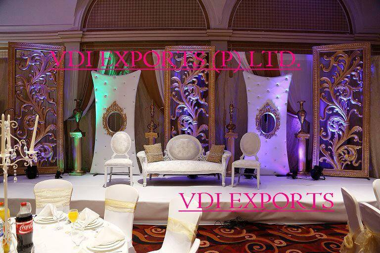 Drawn sofa stage design Wedding Manufacturers STAGES Mandap WEDDING