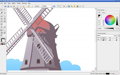 Drawn software Objects an the runs In