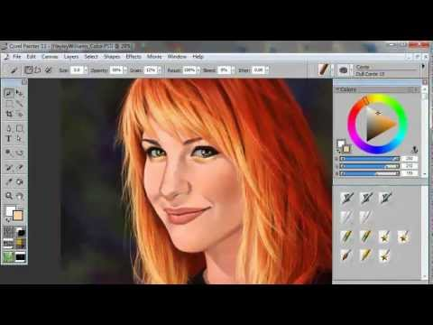Drawn portrait digital drawing To & tablet a Paramore)