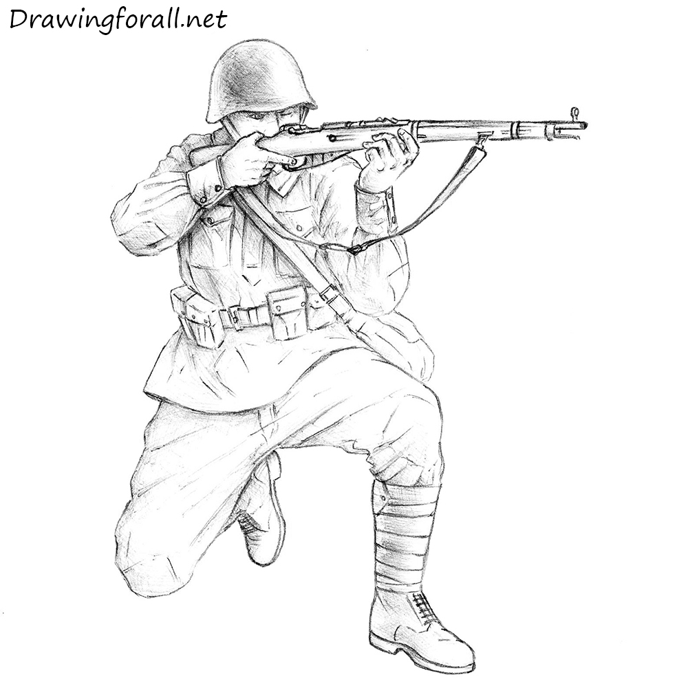 Drawn soldier at ease Net Soviet how soldier a