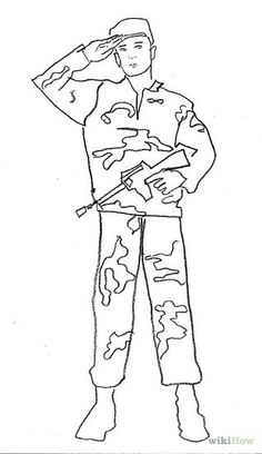 Drawn soldier at ease Soldier a learn How Pinterest