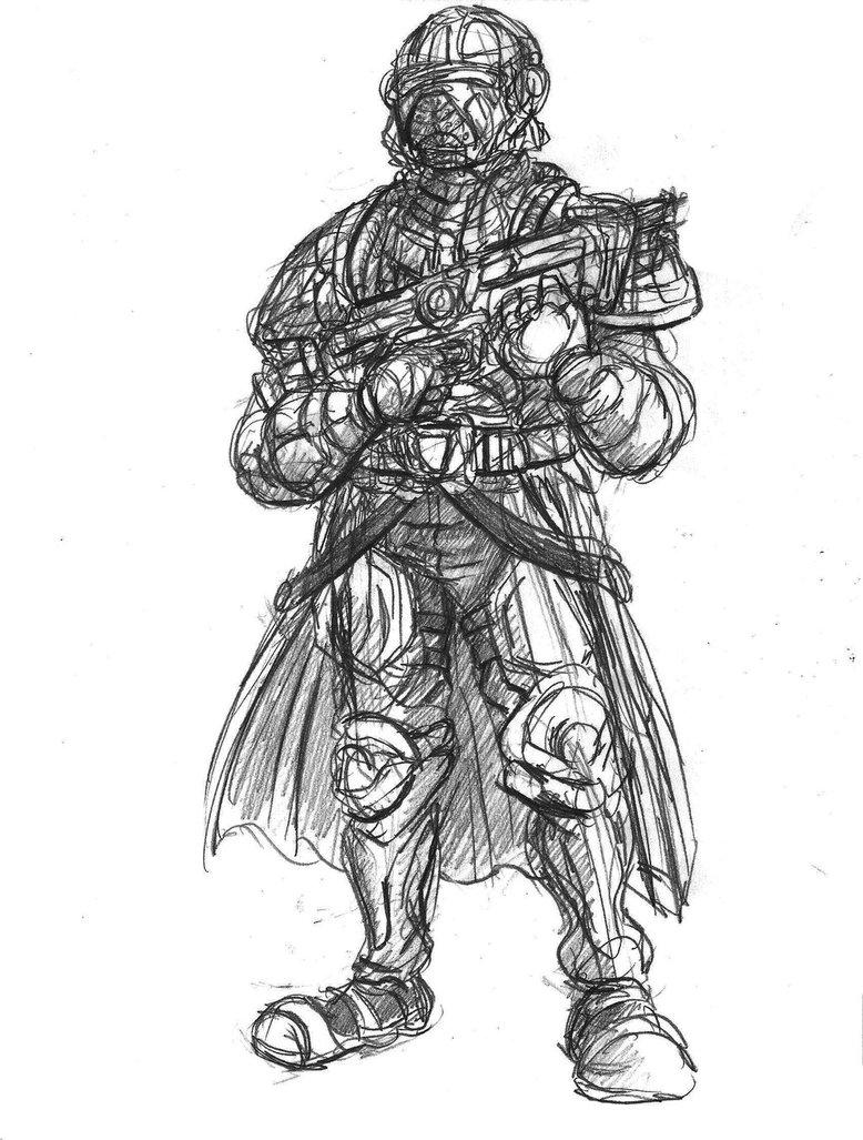 Drawn soldier futuristic Rough Soldier Drawing Futuristic Futuristic