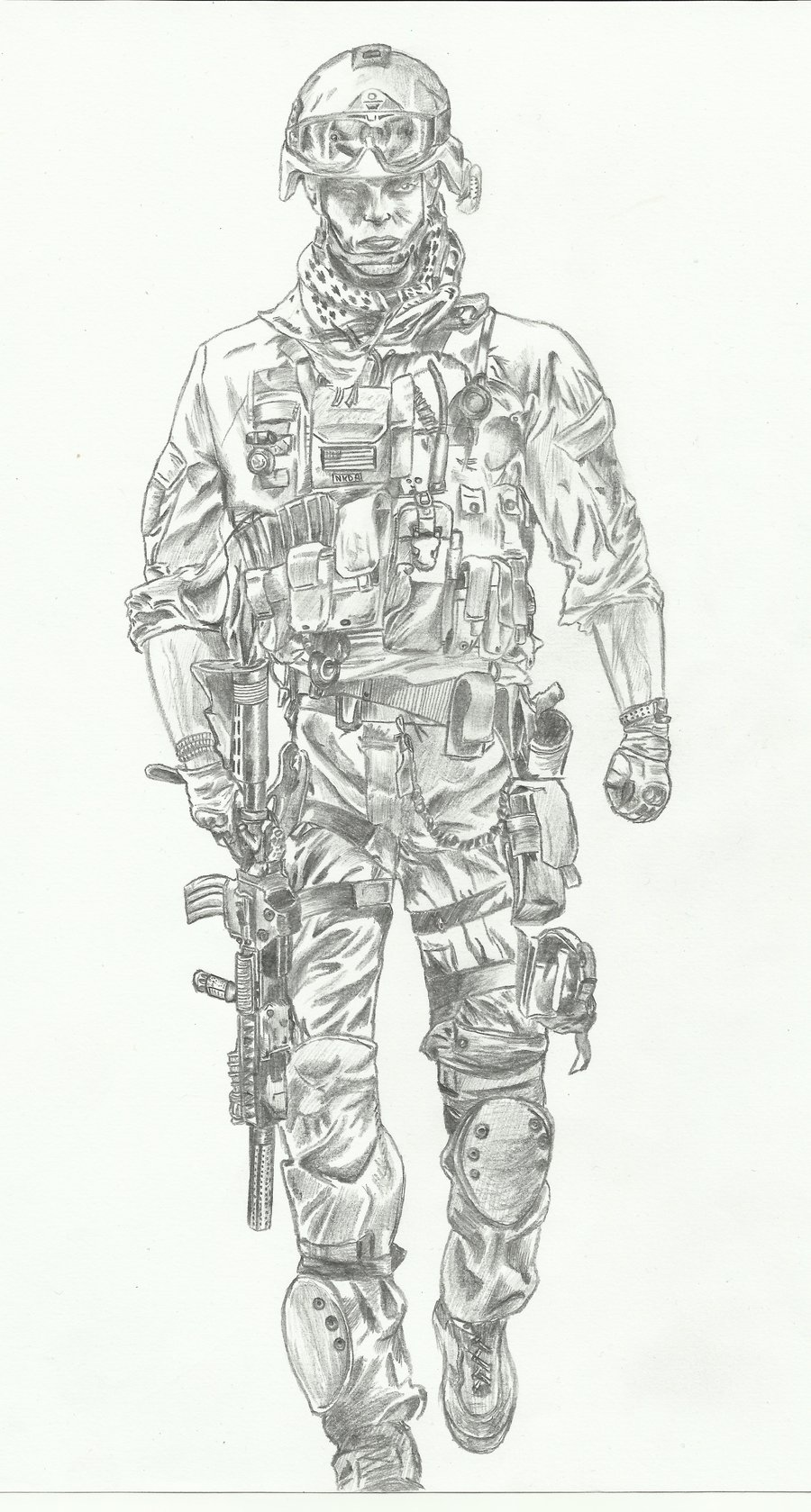 Drawn soldiers #13
