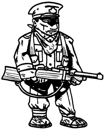 Drawn wars soilder Illustrations Exhausted A » Soldier