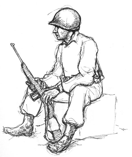 Drawn wars ww2 soldier Soldier Realistic Images Art Soldier