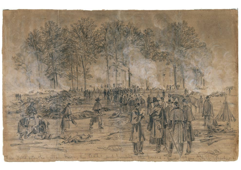 Drawn soldier battle Reenvisioned 1862; CONGRESS BATTLE LIBRARY