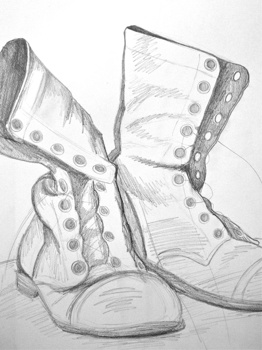 Drawn boots army Boots Drawing image Boots Combat