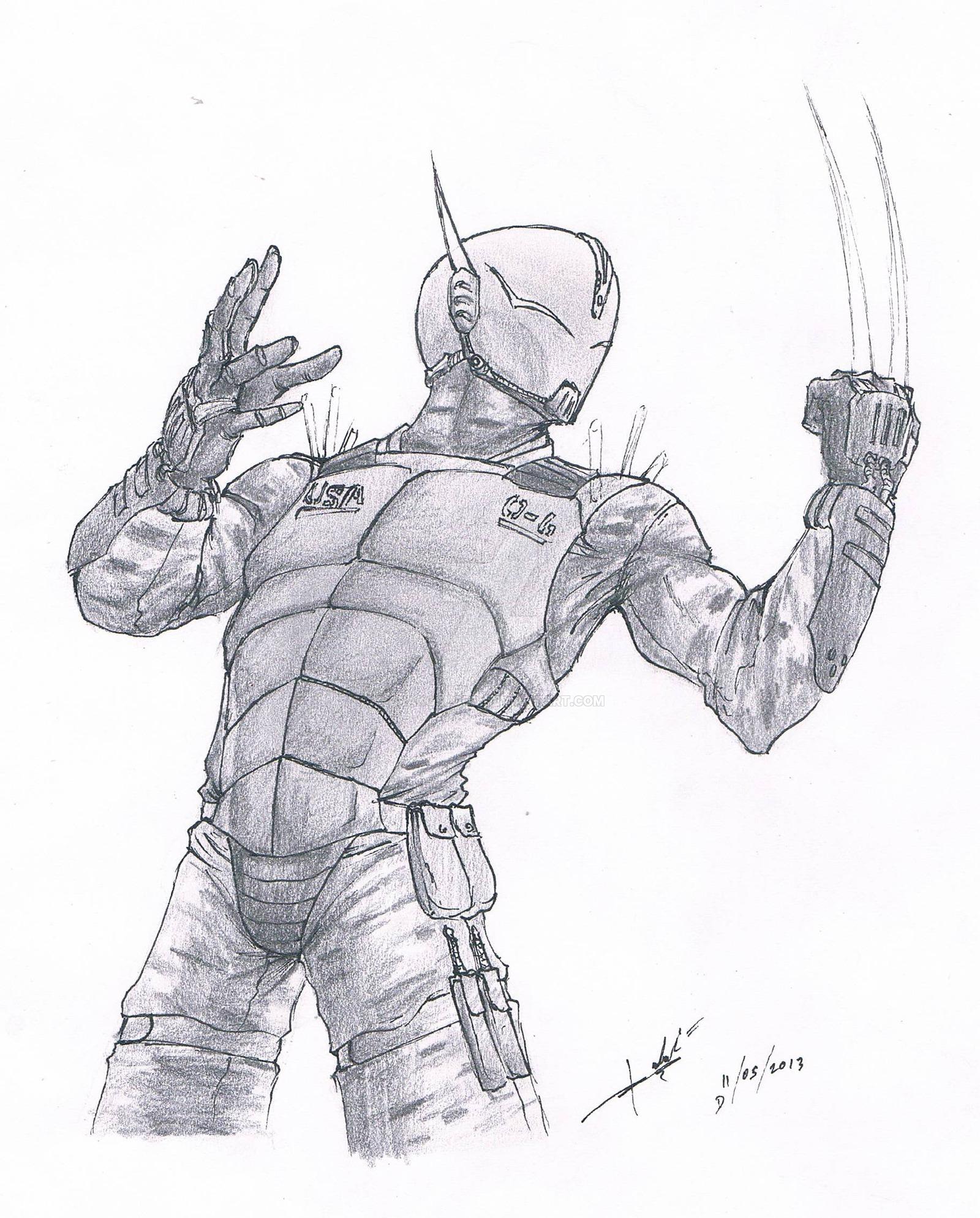 Drawn soldier futuristic Futuristic of Search Drawing soldier