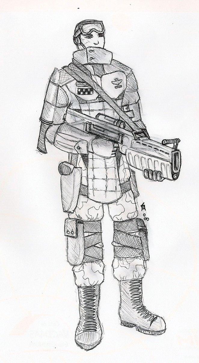 Drawn soldier futuristic By Soldier Soldier Futuristic orcbruto